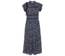 Amari Bow-detailed Printed Cotton-gauze Midi Dress
