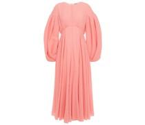 Raquel Pleated Cotton-blend Cloqué Midi Dress