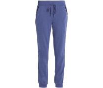 Mélange cotton-blend jersey pajama pants