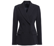 Double-breasted Wool-blend Twill Blazer