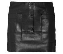 Koby Leather Mini Skirt Schwarz