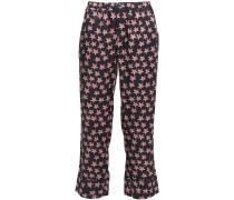 Reese Printed Crepe De Chine Pajama Pants