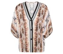 Lomil Snake-print Satin Shirt