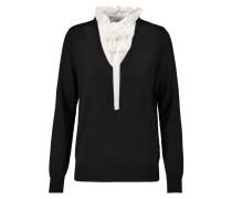 Solmy Ruffled Wool-blend Sweater Schwarz
