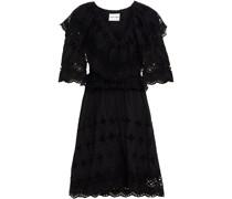 Ally Kleid aus Baumwolle mit Lochstickerei und Rüschen