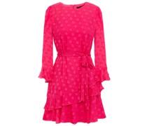 Marissa Ruffled Fil Coupé Silk-blend Mini Dress