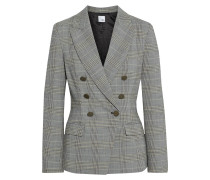 Eva Double-breasted Prince Of Wales Checked Woven Blazer