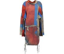Attitude Draped Printed Cotton-blend Terry Dress Rot