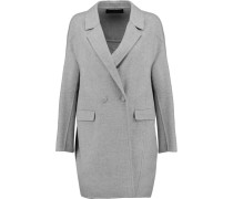Wool And Cashmere-blend Felt Coat Grau