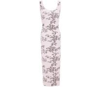 Floral-print Ribbed Cotton-blend Midi Dress