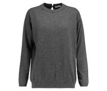 Chain-embellished Cashmere Sweater Dunkelgrau