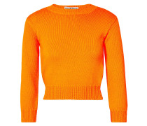 Cropped Open-back Neon Knitted Sweater