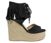 Belinda fringed suede wedge sandals