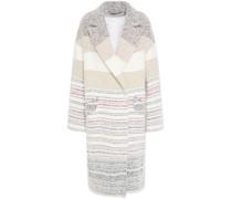 Loux Oversized Striped Bouclé Coat