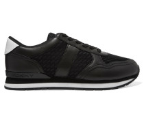 Jamie Leather And Mesh Sneakers Schwarz
