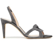 Aurora Slingback-sandalen aus Veloursleder
