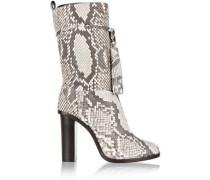 Tasseled python boots