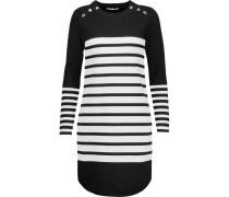 Scottie Striped Stretch-knit Mini Dress Schwarz