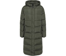 Quilted Shell Hooded Down Coat
