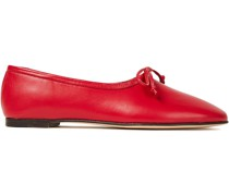 Agnes Textu-leather Ballet Flats