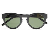 + Linda Farrow Round-frame Metal And Acetate Sunglasses Grau