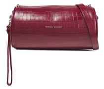 Barrel Croc-effect Leather Shoulder Bag