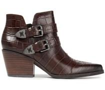 Windsor Ankle Boots aus Leder mit Krokodileffekt