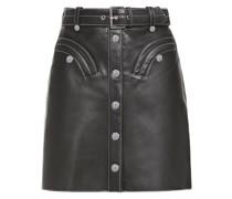 Janaille Leather Mini Skirt