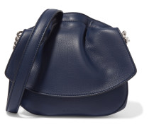 Ridge Micro Leather Shoulder Bag Navy
