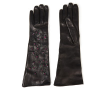 Bead-embellished Leather Gloves