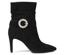 Embellished Suede Ankle Boots