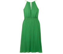 Woman Gathered Crepe Dress Green