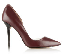 Soho Pvc-trimmed Leather Pumps Burgunder