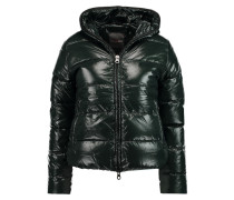 Thiacinque Quilted Shell Hooded Down Coat Dunkelgrün