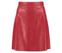 Pannala Leather Mini Skirt Rot