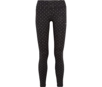 Power Epic Run printed stretch-jersey leggings