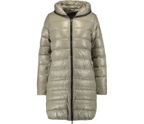 Quilted Shell Down Coat Champignon