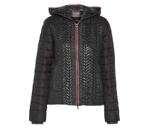 Cloto Wool-paneled Quilted Shell Down Jacket Schwarz