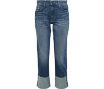 Cropped Jeans mit Geradem Bein in Distressed-optik