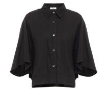 Cropped Hemd aus Baumwolle