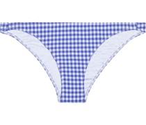 Ashley Tief Sitzendes Bikini-höschen aus Stretch-seersucker mit Gingham-karo