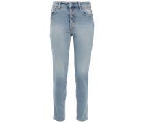 Woman Gaety High-rise Slim-leg Jeans Light Denim