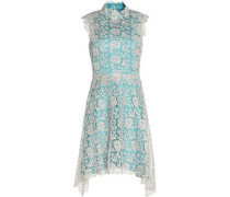 Izzy asymmetric metallic lace dress