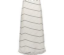 Vivridge Striped Silk-chiffon Midi Skirt Elfenbein