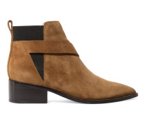 Nash Suede Ankle Boots Hellbraun