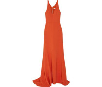 Stretch-crepe gown