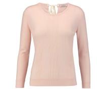 Pointelle-knit Wool Sweater Pastellrosa