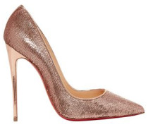 So Kate 120 Sequined Canvas Pumps Rose Gold