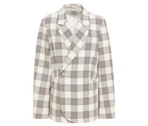 Becks Double-breasted Checked Twill Blazer