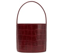Croc-effect Leather Bucket Bag